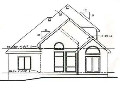 Rear Elevation Plan: 10-1252