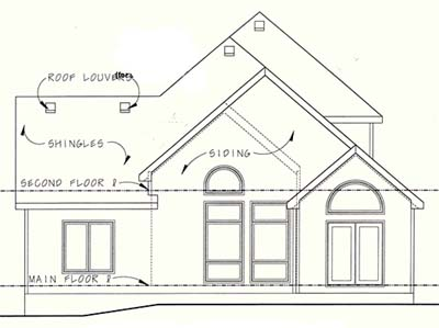 Rear Elevation Plan: 10-1254