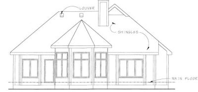 Rear Elevation Plan: 10-1255