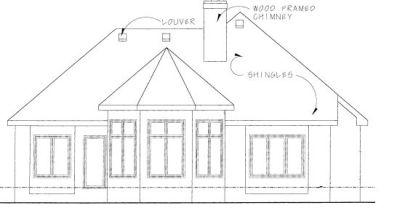 Rear Elevation Plan: 10-1256