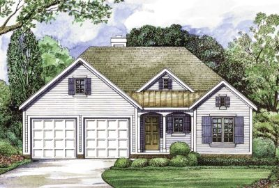 Country Style Home Design Plan: 10-1257