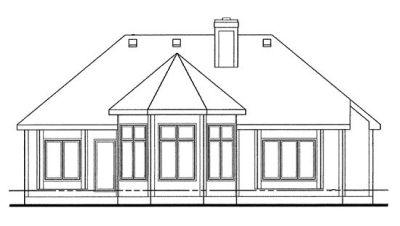 Rear Elevation Plan: 10-1257