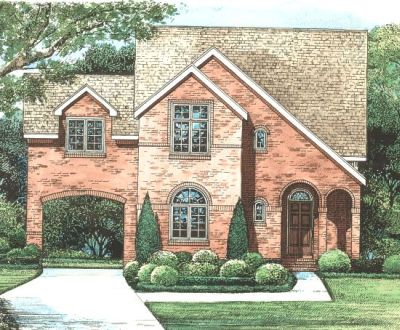 European Style Home Design Plan: 10-1258