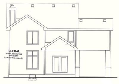 Rear Elevation Plan: 10-1258