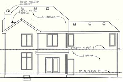 Rear Elevation Plan: 10-1260