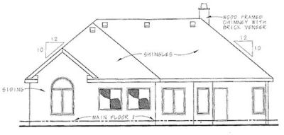 Rear Elevation Plan: 10-1261