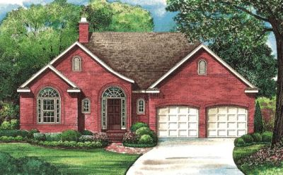 European Style Home Design Plan: 10-1263