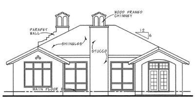 Rear Elevation Plan: 10-1264