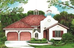 Spanish Style Floor Plans Plan: 10-1264