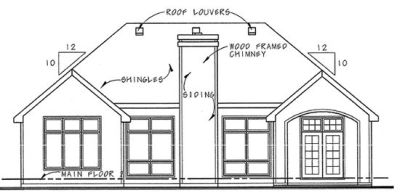 Rear Elevation Plan: 10-1265