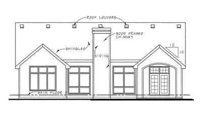 Rear Elevation Plan: 10-1266