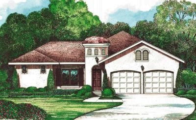 Mediterranean Style Floor Plans Plan: 10-1267