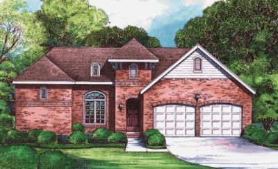 European Style Home Design Plan: 10-1268