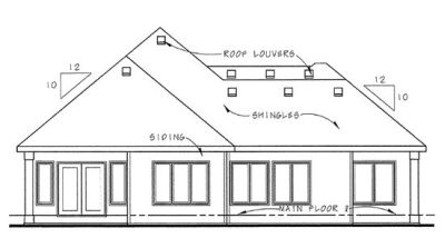 Rear Elevation Plan: 10-1269