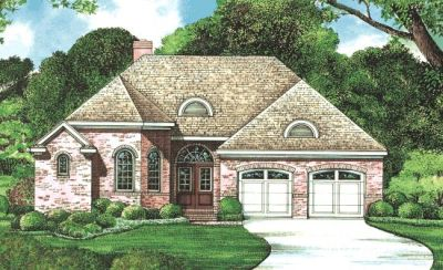 European Style Home Design Plan: 10-1270