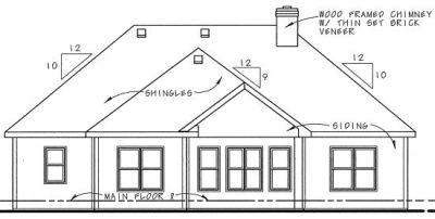 Rear Elevation Plan: 10-1270
