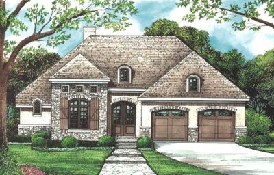 European Style House Plans Plan: 10-1272