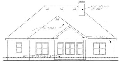 Rear Elevation Plan: 10-1272