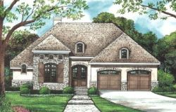 European Style Home Design Plan: 10-1272