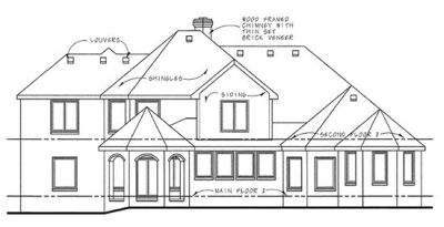 Rear Elevation Plan: 10-1276