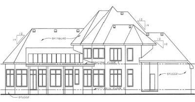 Rear Elevation Plan: 10-1277