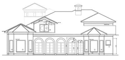 Rear Elevation Plan: 10-1279