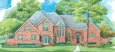 European Style Home Design Plan: 10-1280