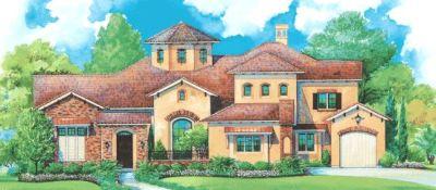 Mediterranean Style Home Design Plan: 10-1281