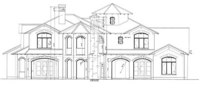 Rear Elevations Plan:10-1281