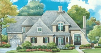 French-country Style Floor Plans Plan: 10-1282