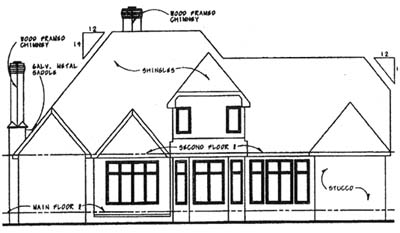 Rear Elevation Plan: 10-1282