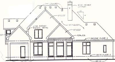 Rear Elevation Plan: 10-1283