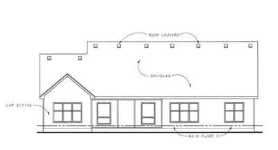 Rear Elevation Plan: 10-1288