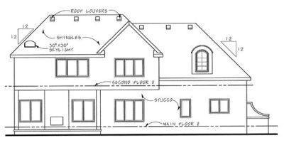 Rear Elevation Plan: 10-1289