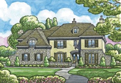 English-country Style Floor Plans Plan: 10-1291