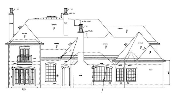 Rear Elevation Plan: 10-1291