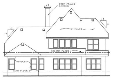Rear Elevations Plan:10-1292