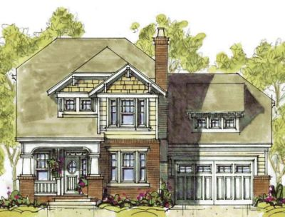 Craftsman Style House Plans Plan: 10-1293