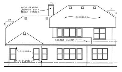 Rear Elevation Plan: 10-1293