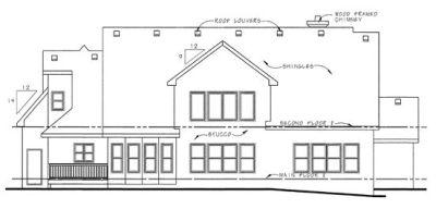 Rear Elevation Plan: 10-1295