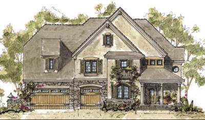 French-country Style House Plans Plan: 10-1296