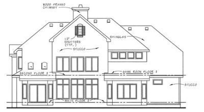 Rear Elevation Plan: 10-1296