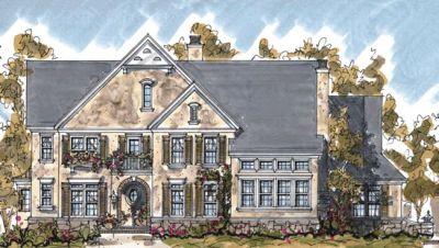 European Style Home Design Plan: 10-1298