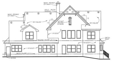 Rear Elevations Plan:10-1298