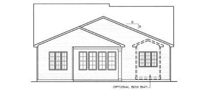 Rear Elevation Plan: 10-1304
