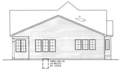 Rear Elevation Plan: 10-1307