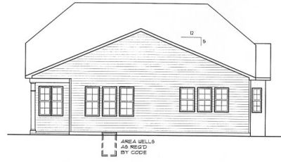 Rear Elevation Plan: 10-1309