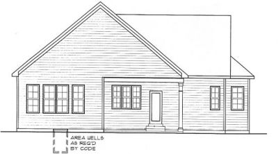 Rear Elevation Plan: 10-1310