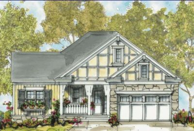 European Style Home Design Plan: 10-1311