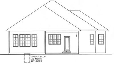 Rear Elevation Plan: 10-1312
